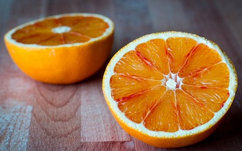 photo of cut orange